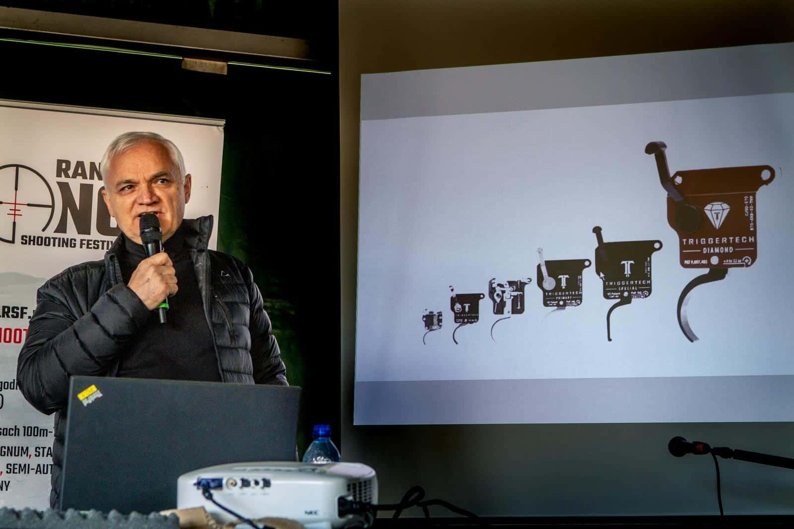 Greg Baniak prezentuje historie powstania spustu Rem 700 Diamond Trigger na Long Range Shooting Festival 2