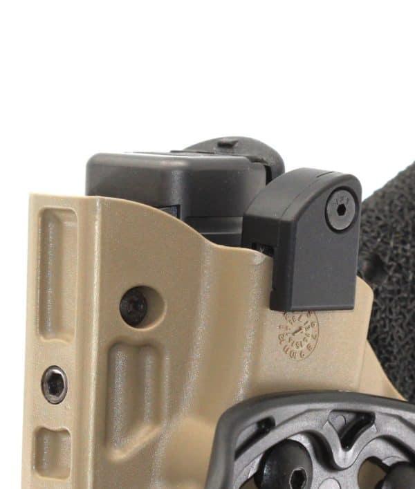 Wykonana z aluminium nakładka OT Defense Nub MOD to ciesząca się dużą popularnością modyfikacja do kabur Safariland z blokadą ALS.