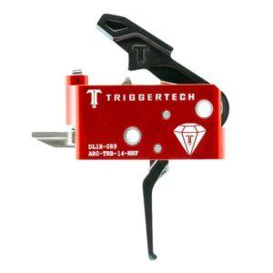 Mechanizm spustowy semi-auto, z serii Triggertech Diamond do karabinów AR15 z językiem spustowym PVD Black Flat.